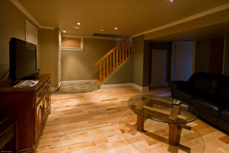 Basement den brownstone homes for Houses with basements in california